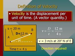 Definition of speed speed is the distance traveled per unit of