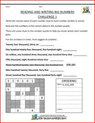 free math place value worksheets