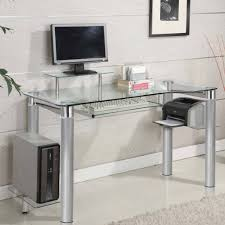 Best Home Office Furniture by Clear Glass Desks Intended For Tempered Glass Desk Top U2013 Best Home