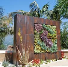 a succulent wall industrial landscape los angeles by
