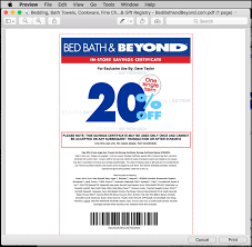 Bed Barh And Beyond Coupons How Do I Save A Print Only Coupon On My Mac Ask Dave Taylor