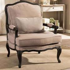 Upholstered Accent Chair Classic Beige Accent Chairs Chairs The Home Depot