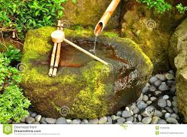 japanese bamboo fountain stock image image of japanese 10463289