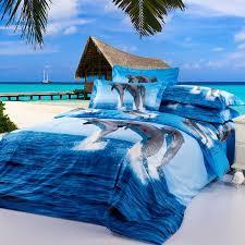 blue dolphin animal oil printed duvet cover sets queen full