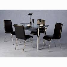 Black Glass Extending Dining Table 6 Chairs Stylish Extending Black Glass Dining Table And 6 Chairs Set