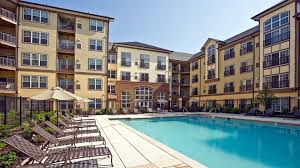 Home Plans With A Courtyard And Swimming Pool In The Center Mosaic At Metro Apartments Hyattsville 6210 Belcrest Road
