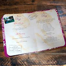 passport to love booklet travel wedding invitation by ditsy chic