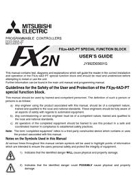 fx2n 4ad pt userguide jy992d65601 g programmable logic