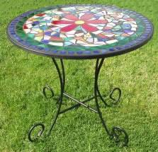 Mosaic Bistro Table Flower Mosaic Bistro Table Mosaic Pinterest Mosaics And