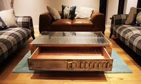 Oak Coffee Table Vintage Industrial Oak Coffee Table With Copper Theretrostation