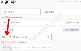 Yahoo Sign In Yahoomail Sign Up With Nigeria Number Sign Up Yahoo Account