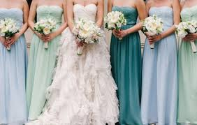 bridesmaid dress colors gorgeous colored bridesmaid dresses elite wedding looks