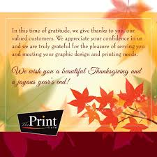 thanksgiving message to customers the print cafe home facebook