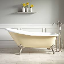 claw foot bathtubs 66 goodwin cast iron clawfoot tub imperial feet light yellow