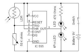 automatic street light simple electronics project and circuits