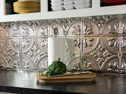 kitchen backsplash tin tile backsplash aluminum backsplash