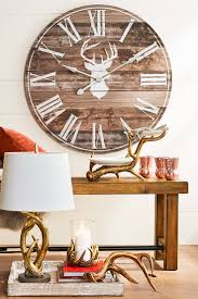 best 25 wall clock decor ideas on pinterest large clock large brown deer silhouette wall clock paper home decor ideas