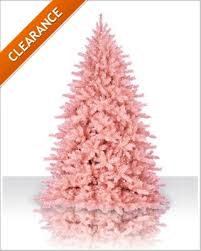 4 ft powder pink unlit artificial tree tree
