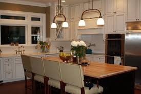 ceramic tile countertops white kitchen island with butcher block