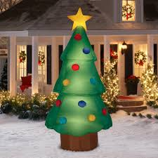 Blow Up Christmas Tree Decoration by Airblown Inflatable Christmas Tree Giant 10ft Tall By Gemmy