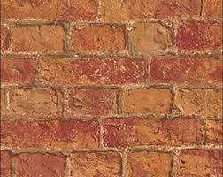 brick wallpaper etsy