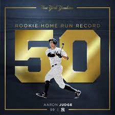 18 Best Aaron Judge Collectibles Images On Pinterest New York - aaron judge breaks the rookie home run record with 50 finishes the