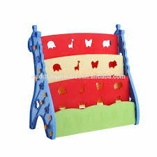2017 new design plastic book rack for baby children bookcases
