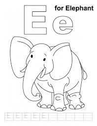 e is for elephant letter e worksheets worksheets and elephants