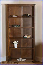 Tall Dark Wood Bookcase Wooden Shelving Unit Bookcase Dark Wood Large Tall Wide