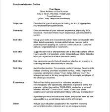 Appealing Resume Title Examples Customer by Appealing Resume Outlines 9 Resume Outline Template 10 Free Word