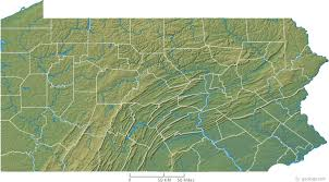 Pennsylvania rivers images Pennsylvania physical map and pennsylvania topographic map gif
