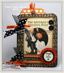vintage halloween graphic halloween mini album polly u0027s paper studio