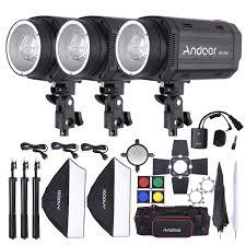 Barn Door Photography by Andoer Md 250 750w 250w 3 Studio Strobe Flash Light Kit With