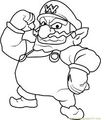 wario coloring free super mario coloring pages