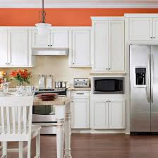 white kitchen cabinets orange walls 25 winning kitchen color schemes for a look you ll