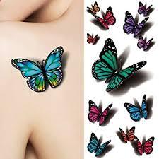 tattoo decal paper buy amazon com born pretty 1 sheet 3d butterfly tattoo decals body art