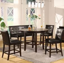 dining room flooring ideas dining fabulous round pedestal dining table with tufted chairs