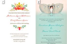 Wedding Invitation Sample Wedding Invitation Editable Templates Wblqual Com