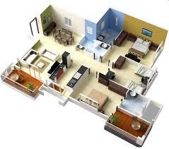 more bedroom d floor plans ideas simple 3 building plan 3d gallery