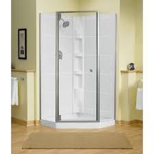 Sterling Frameless Shower Doors Sterling Solitare 29 7 16 In X 72 1 4 In Neo Angle Shower Door