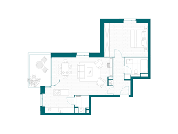 2 Room Flat Floor Plan The Waterworks New Construction In Lübeck St Jürgen