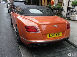 bentley orange bentley continental gtc v8 s 2016 13 august 2016 autogespot