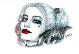 lipstick and mocha squad 2016 my harley quinn drawing