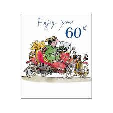 60 Birthday Cards Male Birthday Card Enjoy Your 60th Quentin Blake Same Day