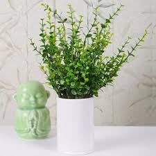Home Decorating Plants 7 Branches Plant Flowers Home Decor 2016 Eucalyptus Grass Green