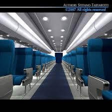 Airplane Interior 3d Interior Plane 3 Cgtrader
