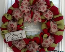 christmas burlap wreaths christmas burlap wreath winter wreath with merry