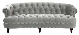 Chesterfield Sofa Bed La Rosa Chesterfield Sofa Opal Grey Jennifer Taylor Home