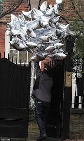 40th birthday delivery now that s a bouquet 40 silver delivered to supermodel kate