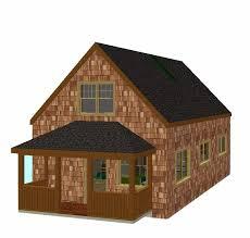 x32 cabin w loft plans package blueprints material list 20 wide 1 1 2 story cottage w loft